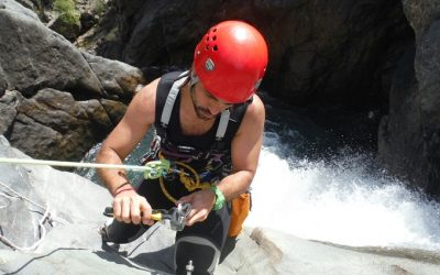 What is the basic equipment for canyoning and what is its main function?